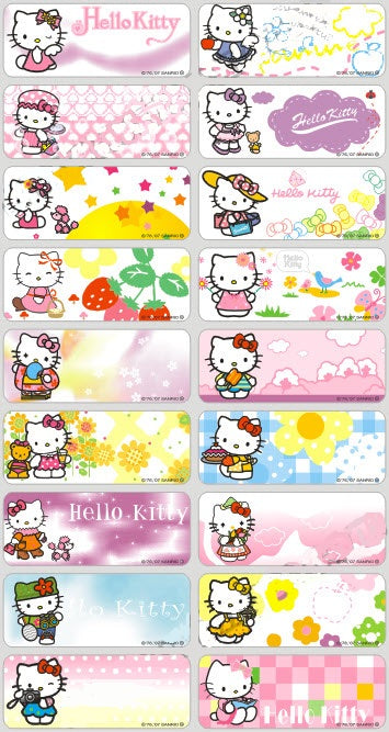 HELLO KITTY - STICKERS