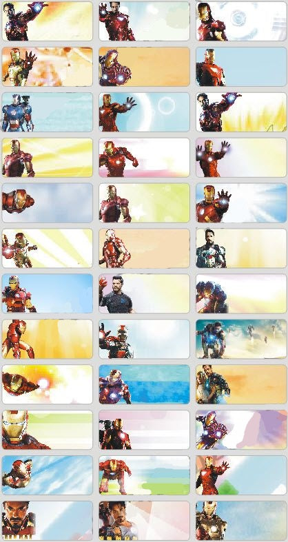 IRON MAN - STICKERS