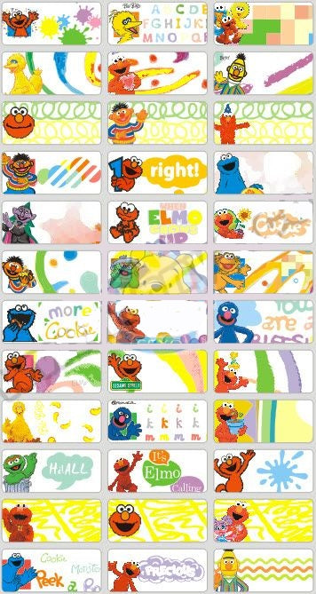 SESAME STREET - STICKERS