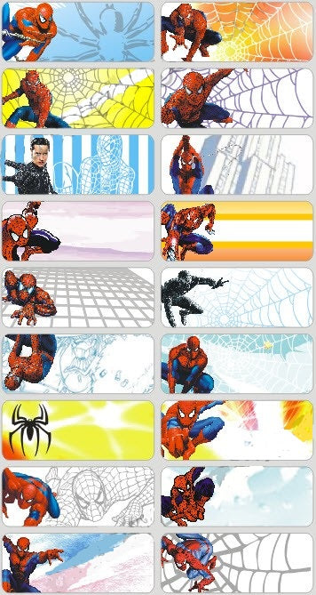 SPIDERMAN - STICKERS