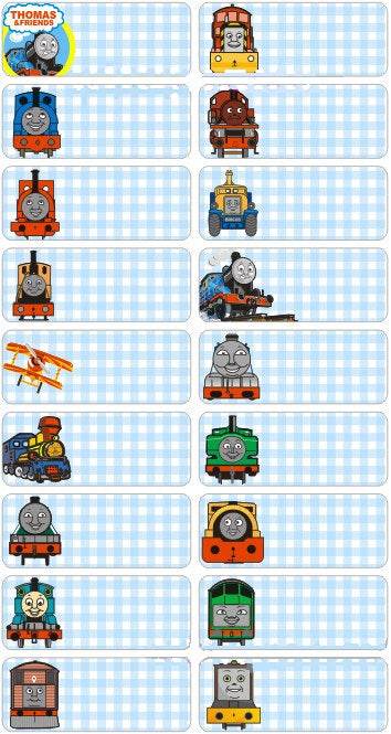 THOMAS & FRIENDS - SEW ON LABEL