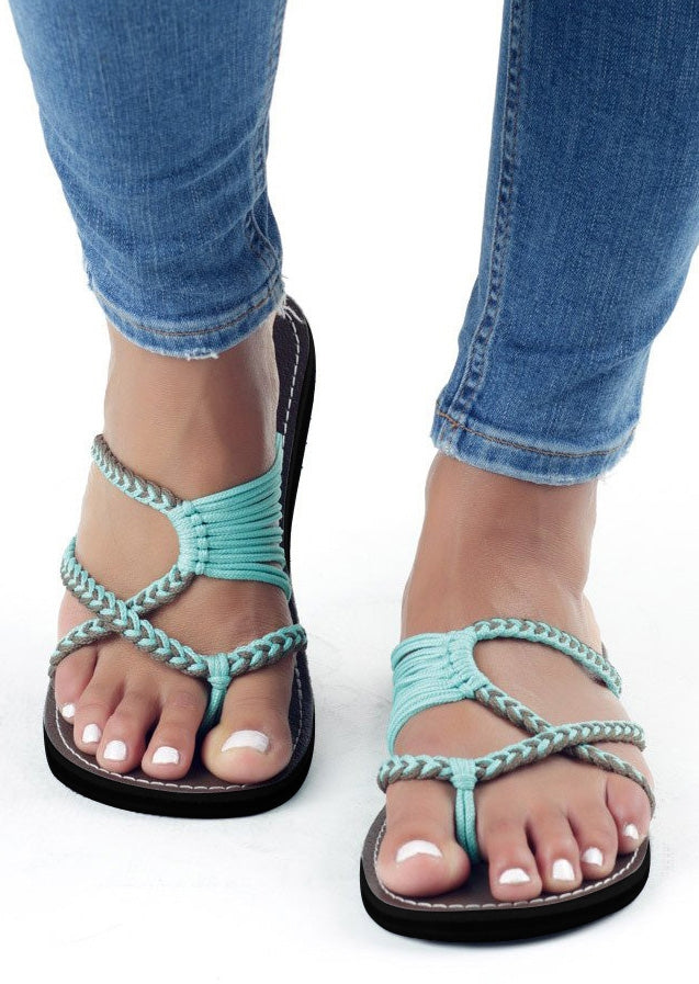 Summer Splicing Flat Sandals