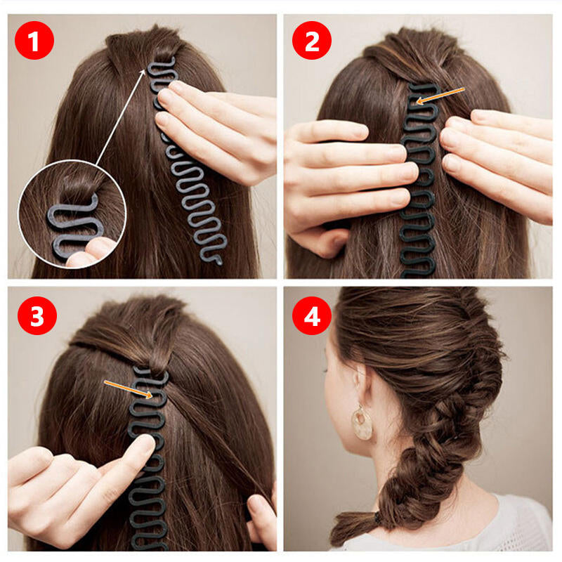 2 PCS DIY Hairstyling Headband Magic Hair Braiding Tool