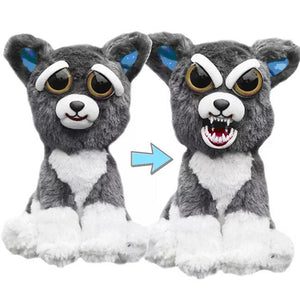 Funny Face Changed Plush Polar Bear