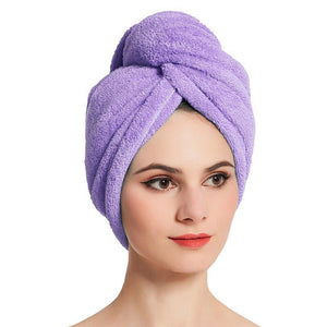 Wrap Absorbent Twist Hair Fast Drying Cap Towels