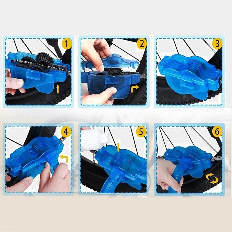 4Pcs Bicycle Chain Cleaning Tool Set