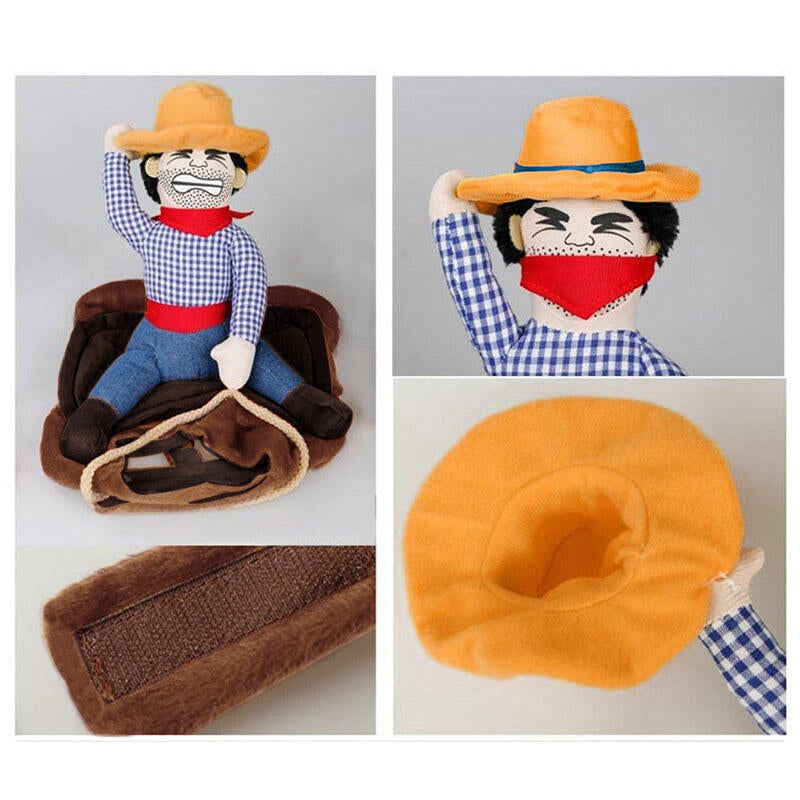 Cowboy Rider Pet Dog Costume