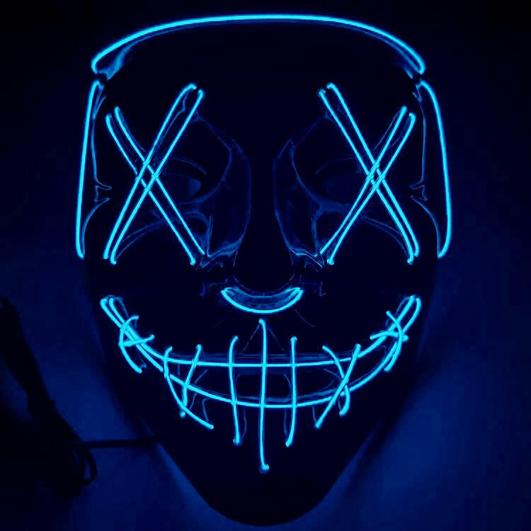 Halloween Cosplay Led Costume Face Cover