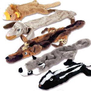 5Pcs No Stuffing Plush Pet Dog Squeaky Toy