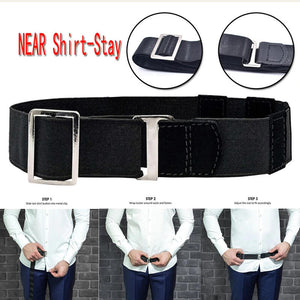 Adjustable Flexible Shirt Stay Belt