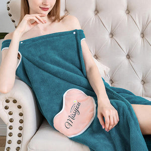 Wearable Fast Drying Plush Bath Towel Skirt