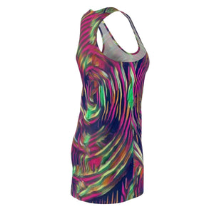 Abstract Swirl Women's Cut & Sew Racerback Dress Voluptuous (+) Size Available - Tie-Fly
