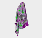 Load image into Gallery viewer, Tribute to Plaid Draped Kimono - Purple - Tie-Fly