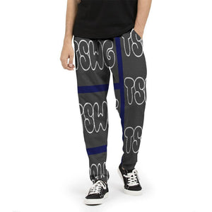 TSWG Bubble   Men's Joggers Voluptuous (+) Size Available - Tie-Fly
