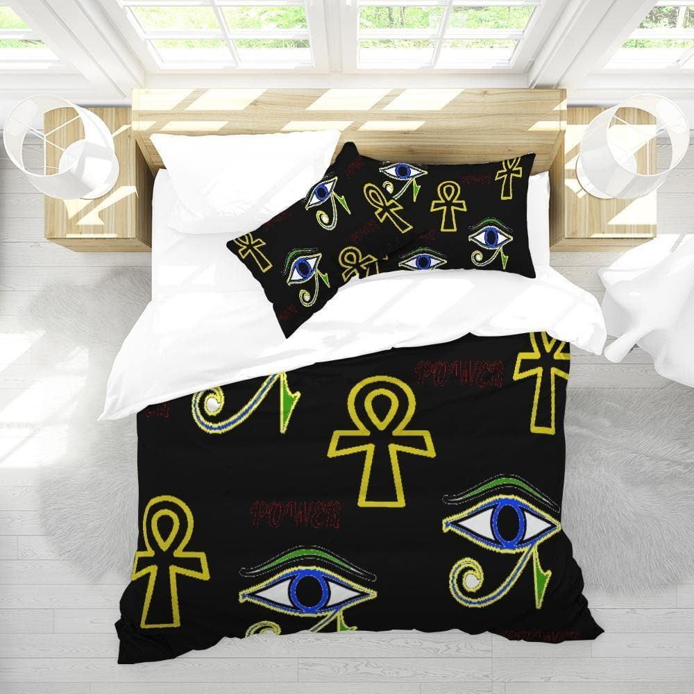 Power Queen Duvet Cover Set - Tie-Fly