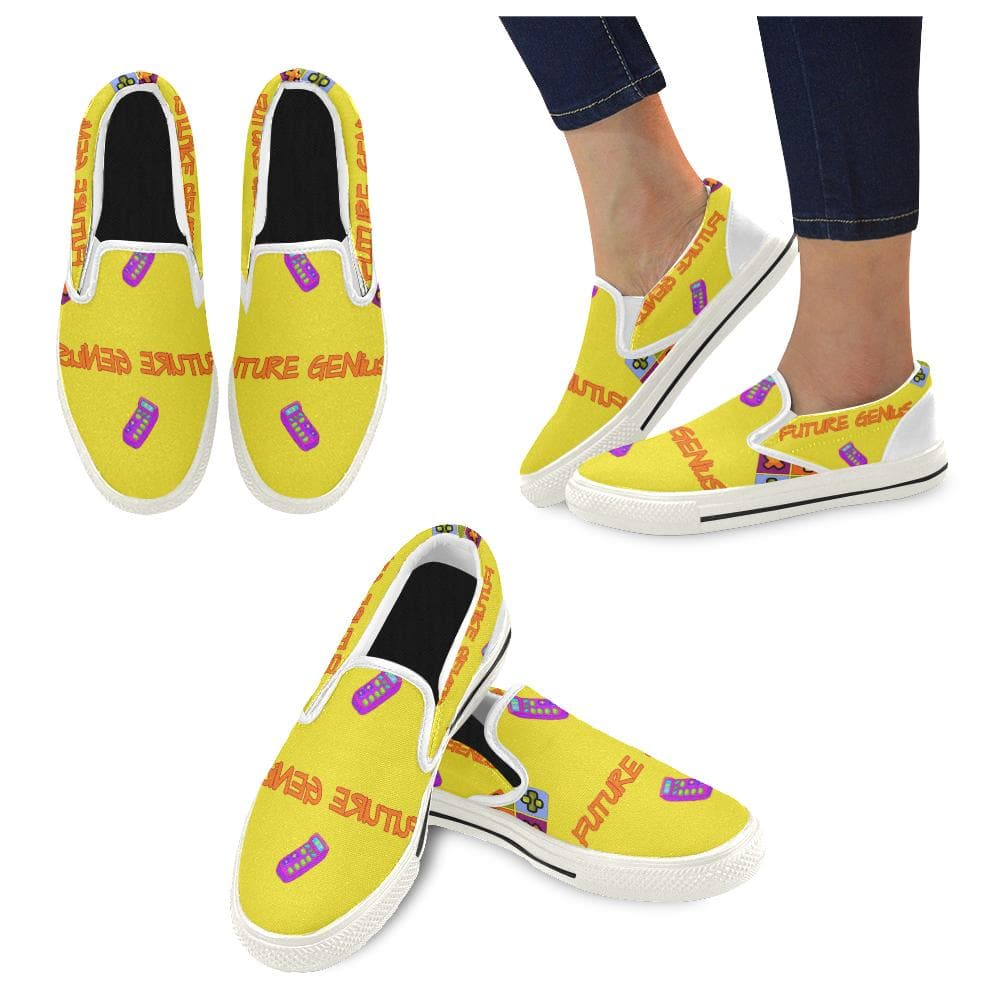 Teacher's Pet Collection: Future Genius Slip - on Canvas Kid's Shoe - Tie-Fly