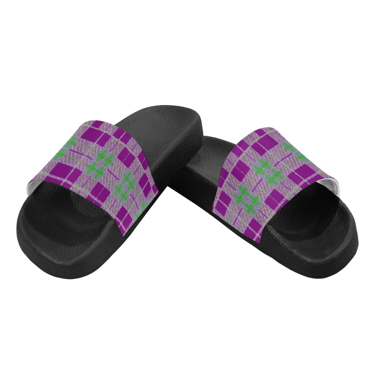 Tribute to Plaid Women's Slides - Tie-Fly