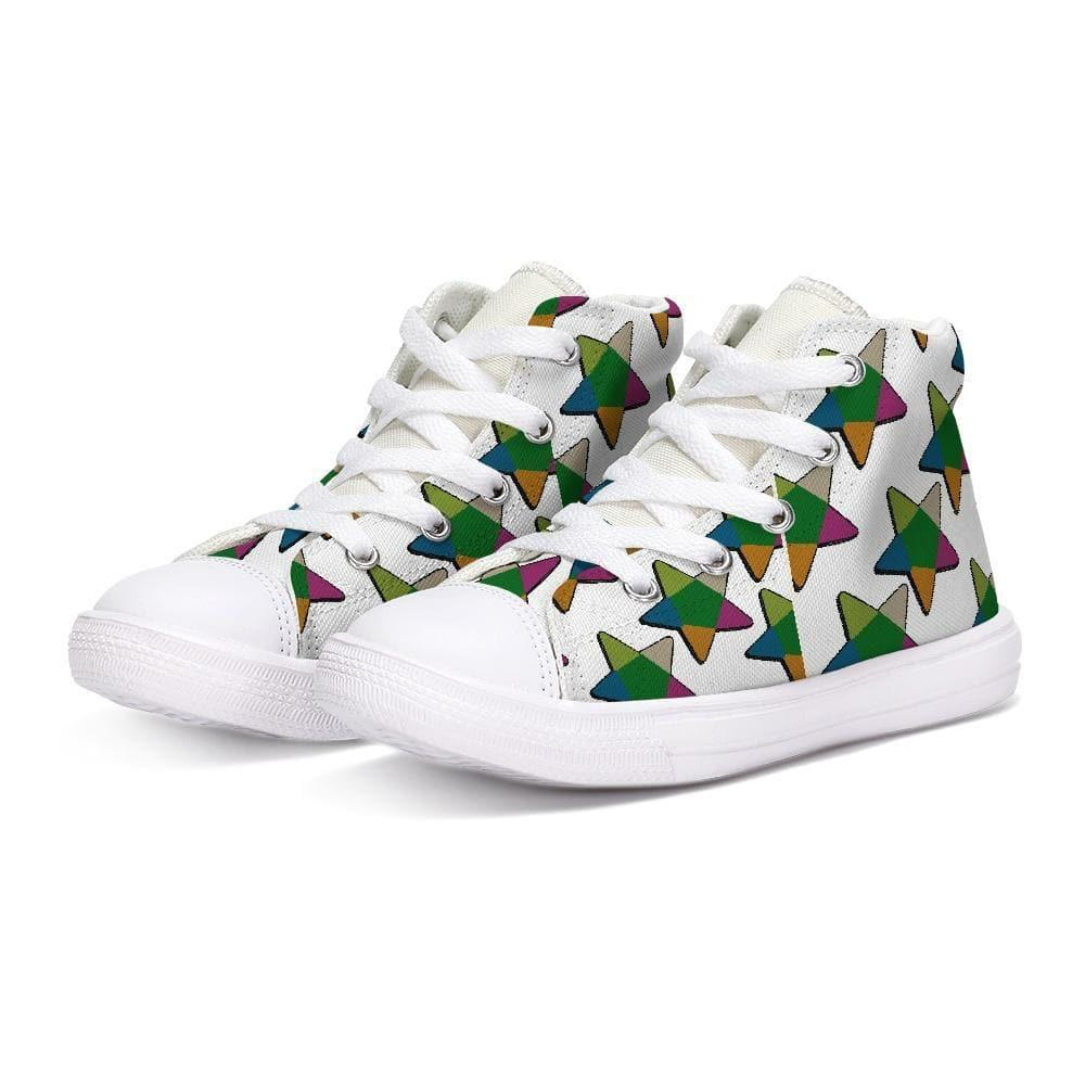 Teacher's Pet Collection: Bec's Star Kids Hightop Canvas Shoe - Tie-Fly