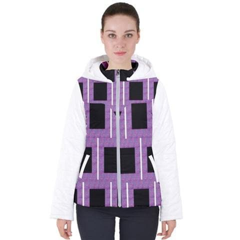 Royal Geo 2 Hooded Puffer Jacket - 3 Colors - Tie-Fly
