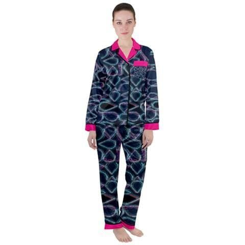 Pure Hydro Satin Long Sleeve Pj's - Tie-Fly