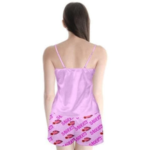 Sweet Clothing Satin Cami Pj Set - 2 Colors - Tie-Fly