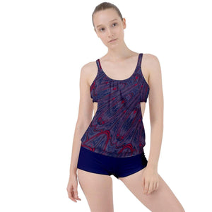 Spangled Boyleg Tankini Set - Tie-Fly