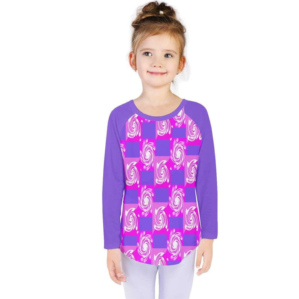 Pink Whirlwind Kids' Long Sleeve Tee - Tie-Fly