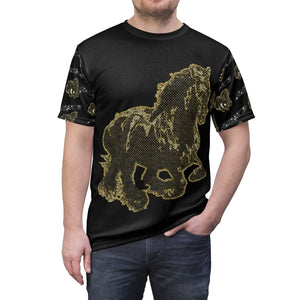 Stallion Clothing Men's AOP Cut & Sew Tee Voluptuous (+) Size Available - Tie-Fly