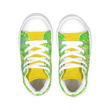 Load image into Gallery viewer, Teacher's Pet Collection: Royal Pallette Kids Hightop Canvas Shoe, shoes -tie - fly