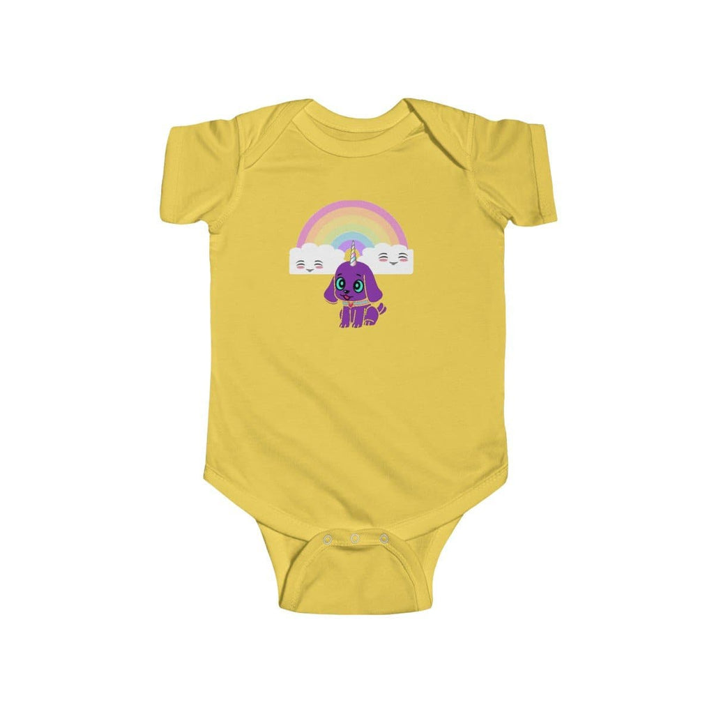 Bec's Uni-Dog Infant Fine Jersey Bodysuit - Tie-Fly