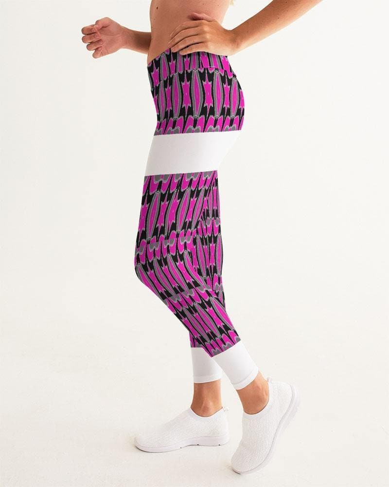 Pink Star  Women's Yoga Pant - Tie-Fly