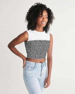 Petty Repeat - Black  Women's Twist-Front Tank - Tie-Fly