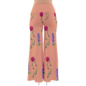 Peach Floral So Vintage Palazzo Pants - Tie-Fly