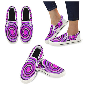 Teacher's Pet Kid's Royal Swirl Slip-on Canvas Shoe - Tie-Fly