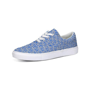 Petty Repeat - Blue Lace Up Canvas Shoe - Tie-Fly