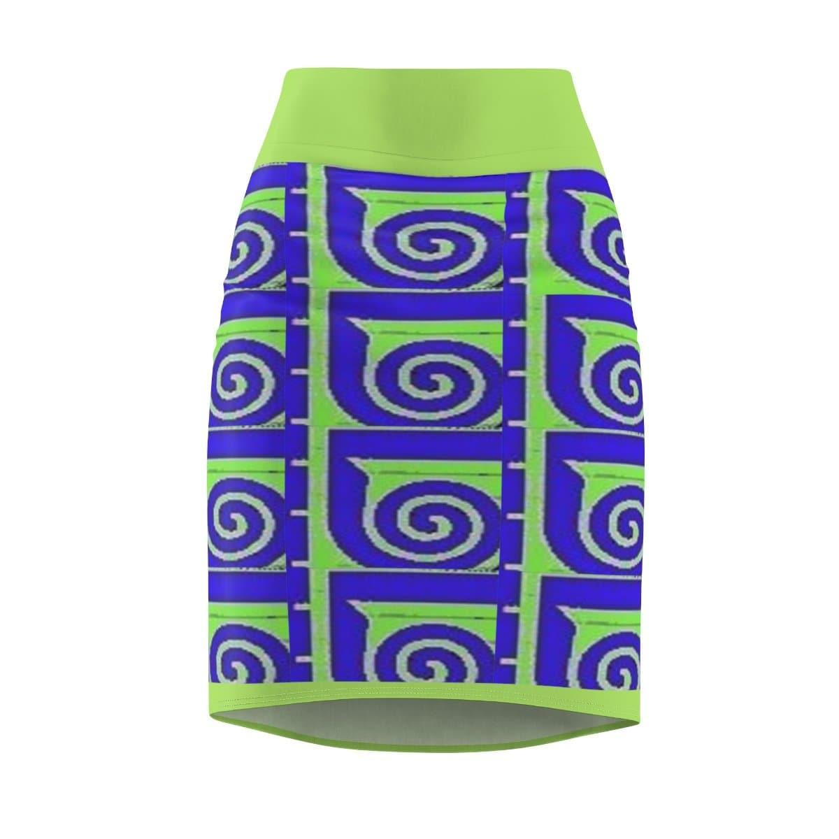 Well Seasoned Women's Pencil Skirt Voluptuous (+) Size Available, All Over Prints -tie - fly