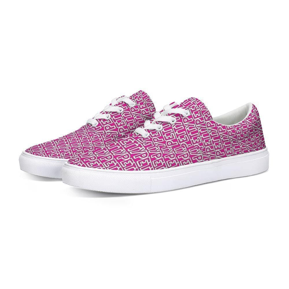 Petty  Lace Up Canvas Shoe - Tie-Fly