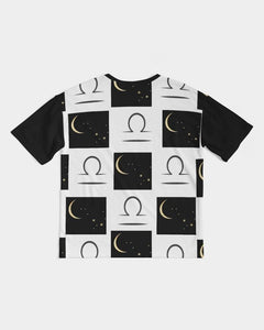 Libra Moon  Men's Premium Heavyweight Tee - Tie-Fly