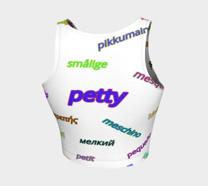 Petty Languages Crop Top - Tie-Fly