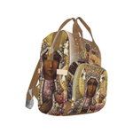 Load image into Gallery viewer, Black Madonna Multi-Function Backpack - Tie-Fly