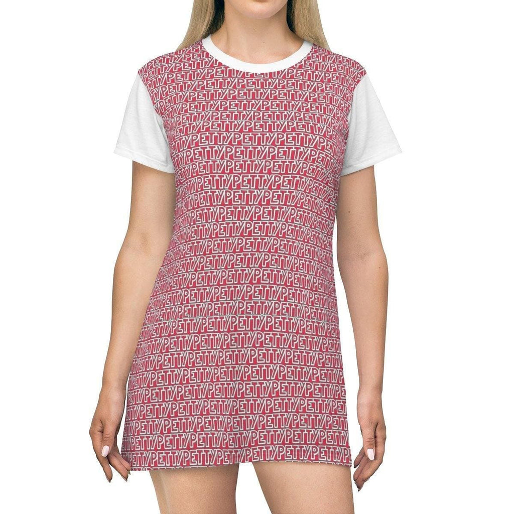 Petty Repeat T-shirt Dress - Red - Tie-Fly