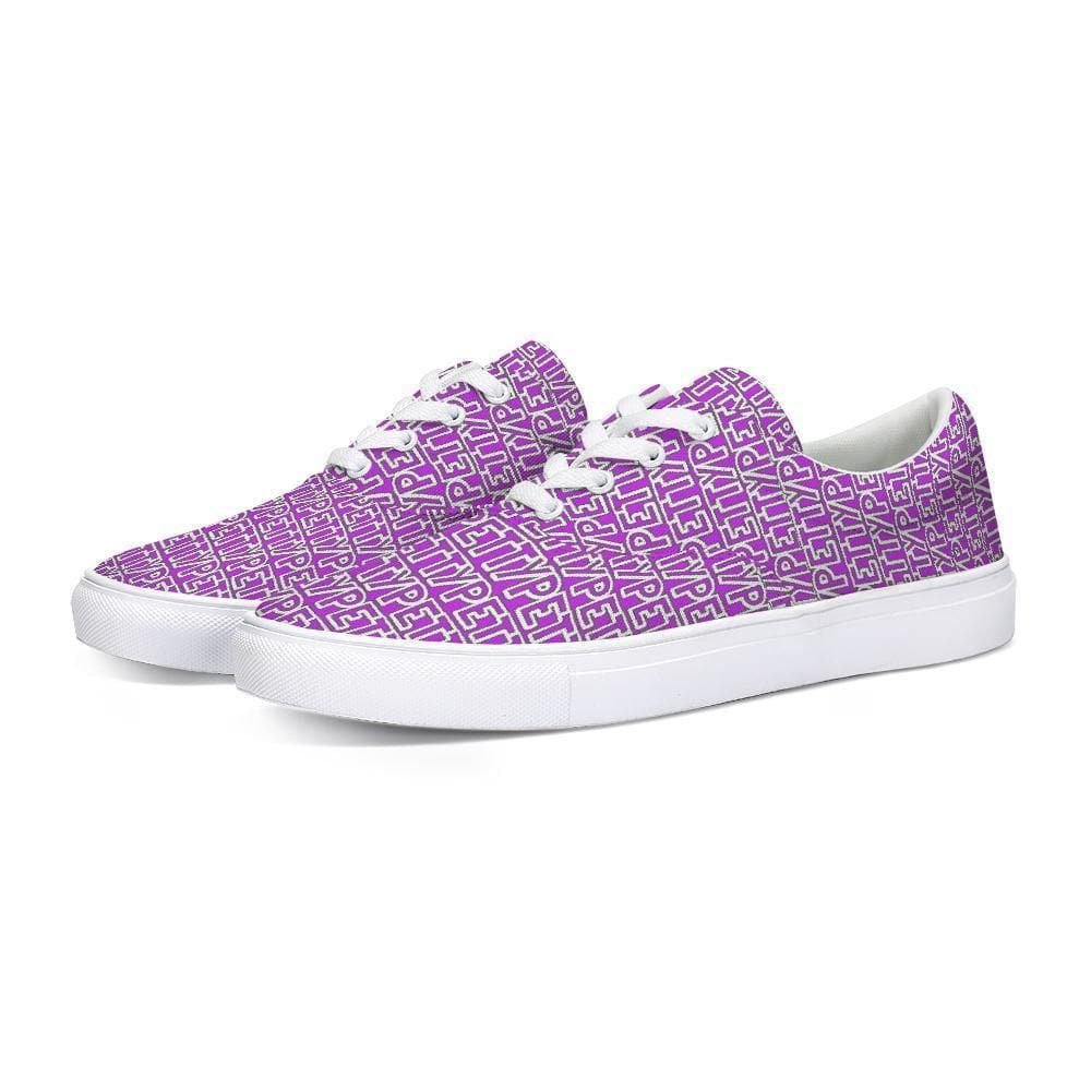 Petty Repeat - Purple Lace Up Canvas Shoe - Tie-Fly