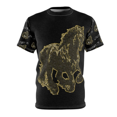 Stallion Clothing Men's AOP Cut & Sew Tee Voluptuous (+) Size Available, All Over Prints -tie - fly