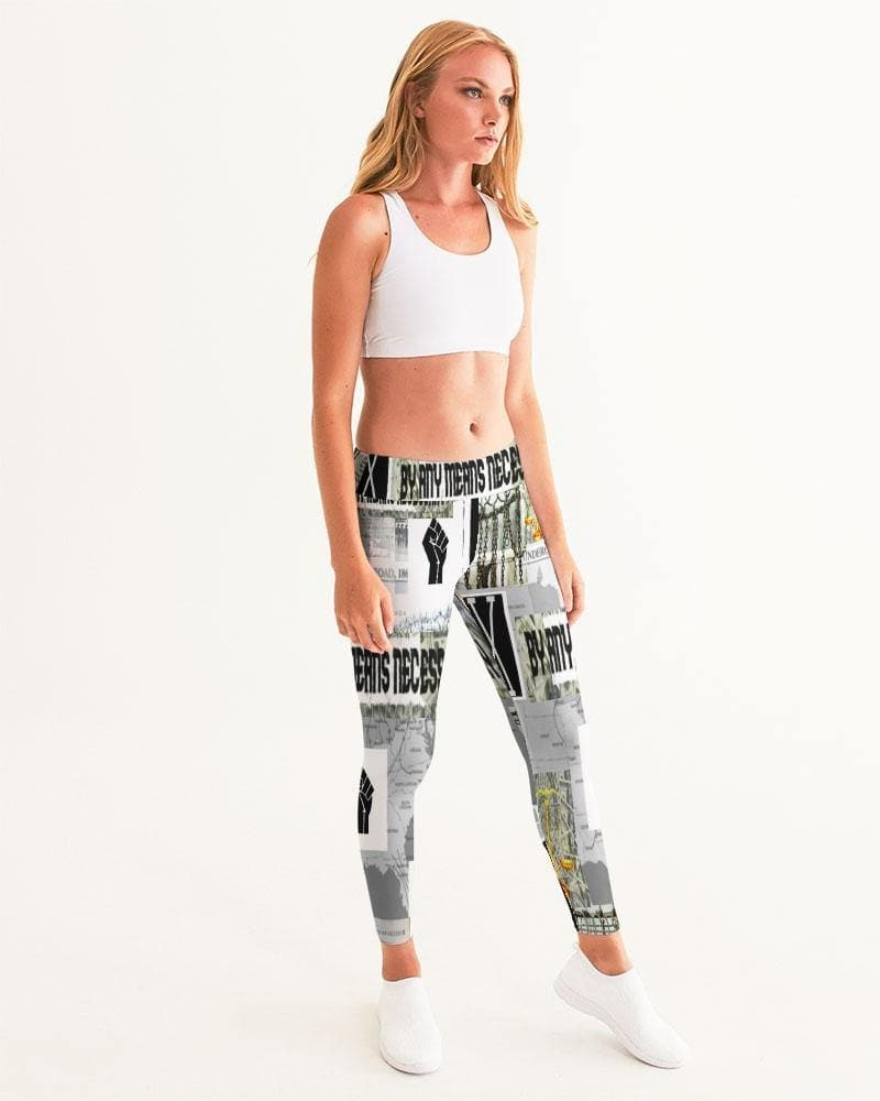 B.A.M.N (By Any Means Necessary) Clothing 2 Women's Yoga Pants - Tie-Fly