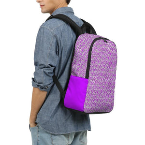 Petty Repeat - Purple Large Backpack - Tie-Fly