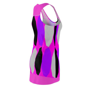 Royal Geo 3 Cut & Sew Racerback Dress - Pink - Tie-Fly