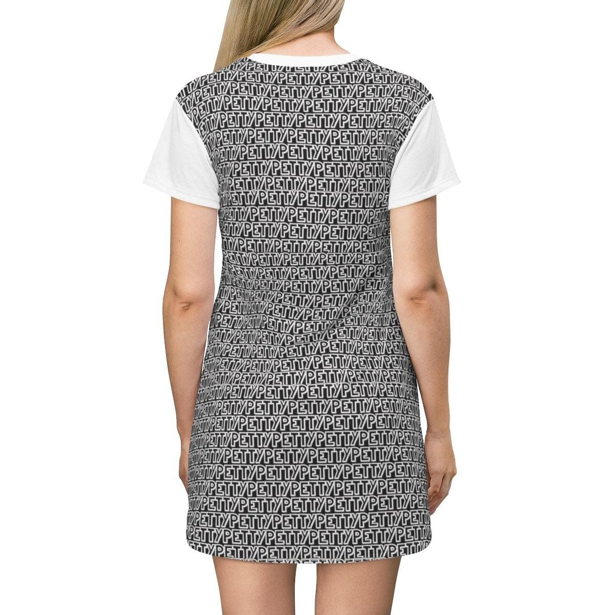 Petty Repeat T-shirt Dress - Black - Tie-Fly