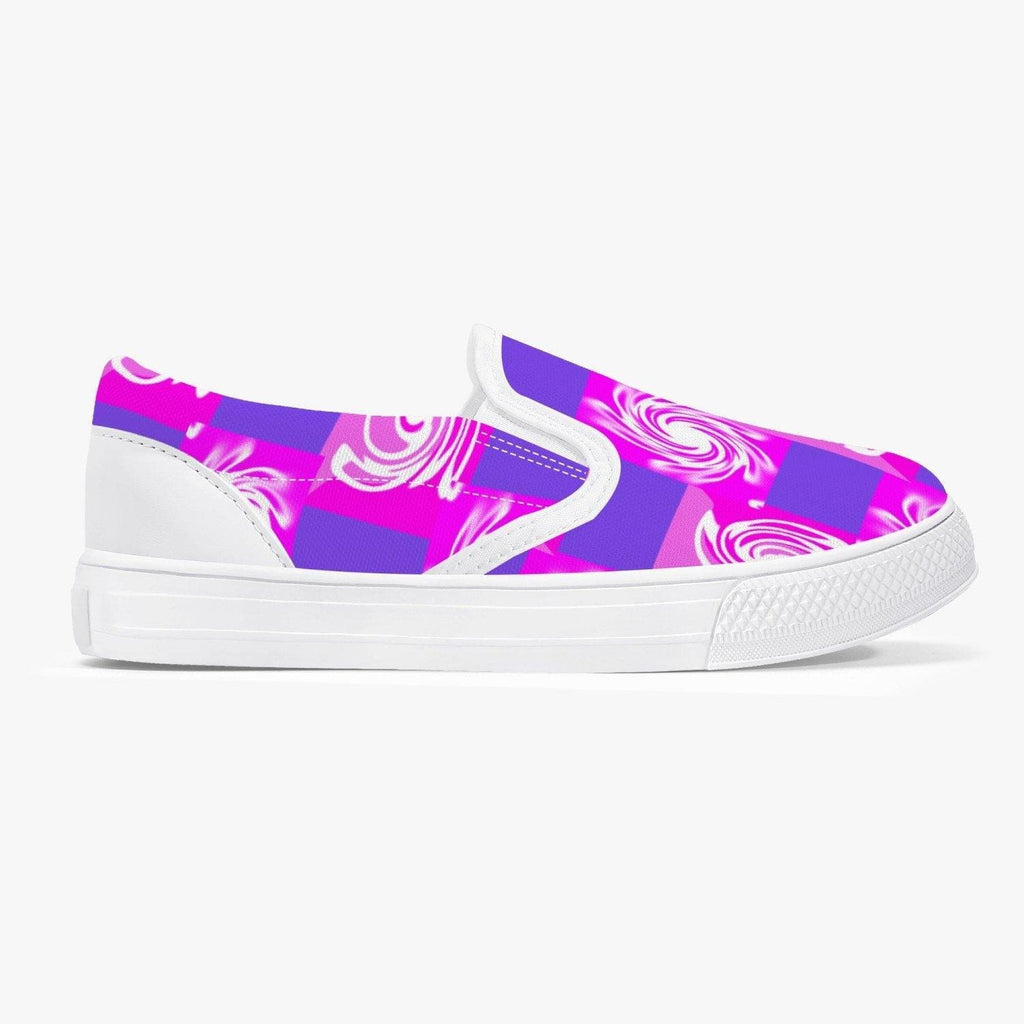 Pink Whirlwind Kids' Slip-On Shoes - White - Tie-Fly
