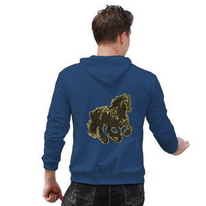 Stallion Clothing Men's Back Print Hoodie w/ Pocket - Tie-Fly