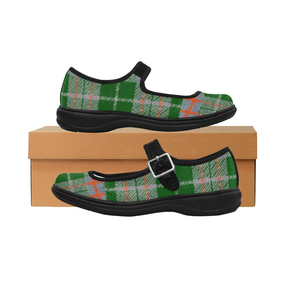 Tribute to Plaid Satin Mary Jane Flat - TFC&H Co.